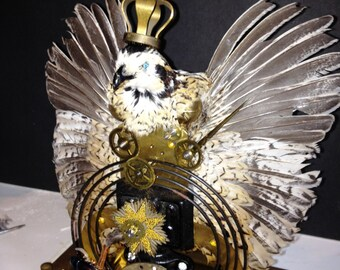 Taxidermy quail centerpiece Steampunk King of Time