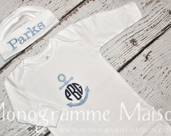 Baby Boy Coming Home Outfit - Newborn Boy Coming Home Outfit - Baby Gift - Personalized Newborn - Newborn Pictures Outfit - Pima Cotton