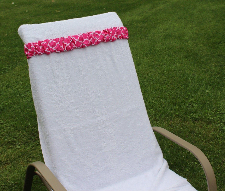 Hot Pink Trellis Towel Cinch Beach Chair Holder Christmas