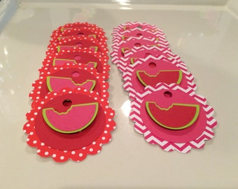 Watermelon Theme Party Tags Set of 12