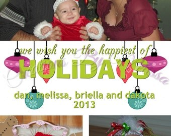 Glee Holiday Greeting Card