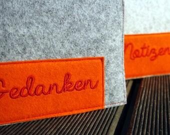 pocketbook, notebook, NOTES, ideas orange