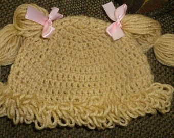 Cabbage Patch Doll Crochet Hat