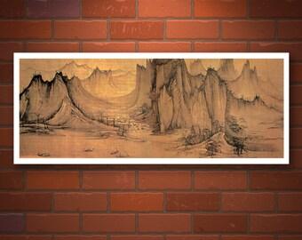 Chinese art, chinese landscape and nature paintings, FINE ART PRINT, nature chinese prints, art posters, china wall art, china home decor