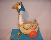 Fisher Price MOTHER GOOSE Pull Toy 1964