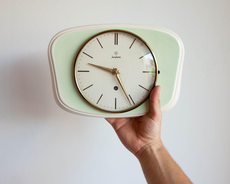 Junghans Wall Clock Vintage German Ceramic Clock Kitchen