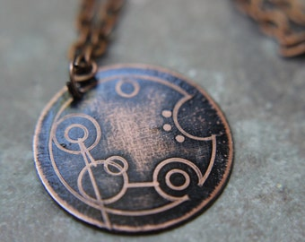 Custom Gallifreyan Doctor Who Name Necklace