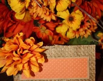 Fall Burlap Place Cards