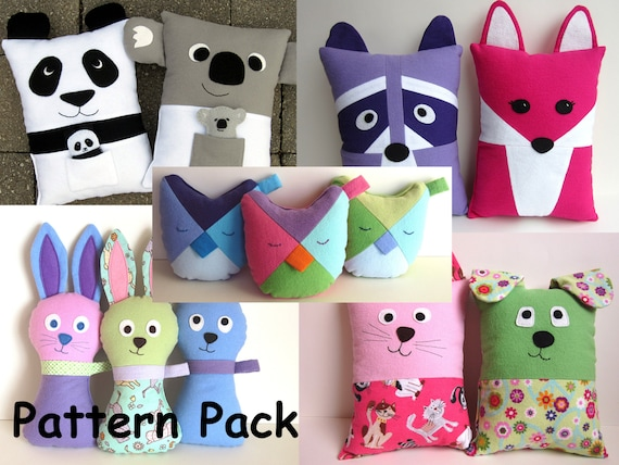 Items Similar To Gifts For Girls Diy Pillow Pattern Bundle