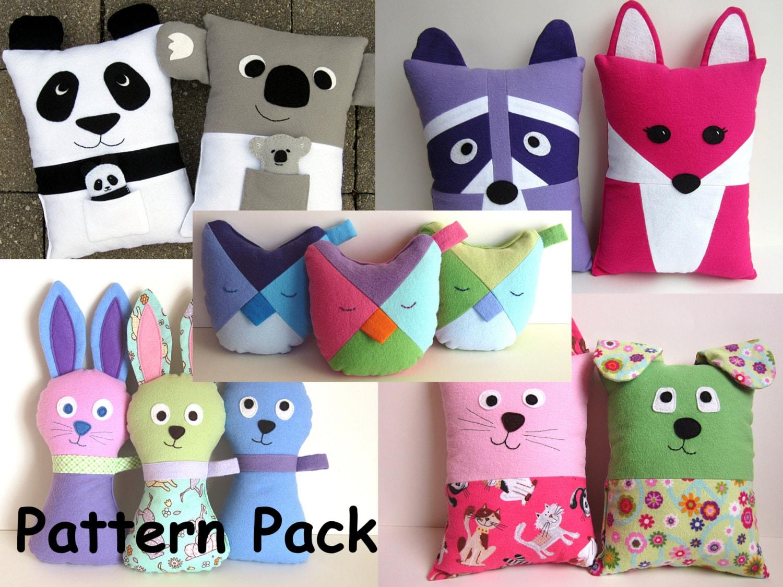 Cute Pillow Diy : Gifts for Girls DIY Pillow Pattern Bundle PDF Sewing Tutorials