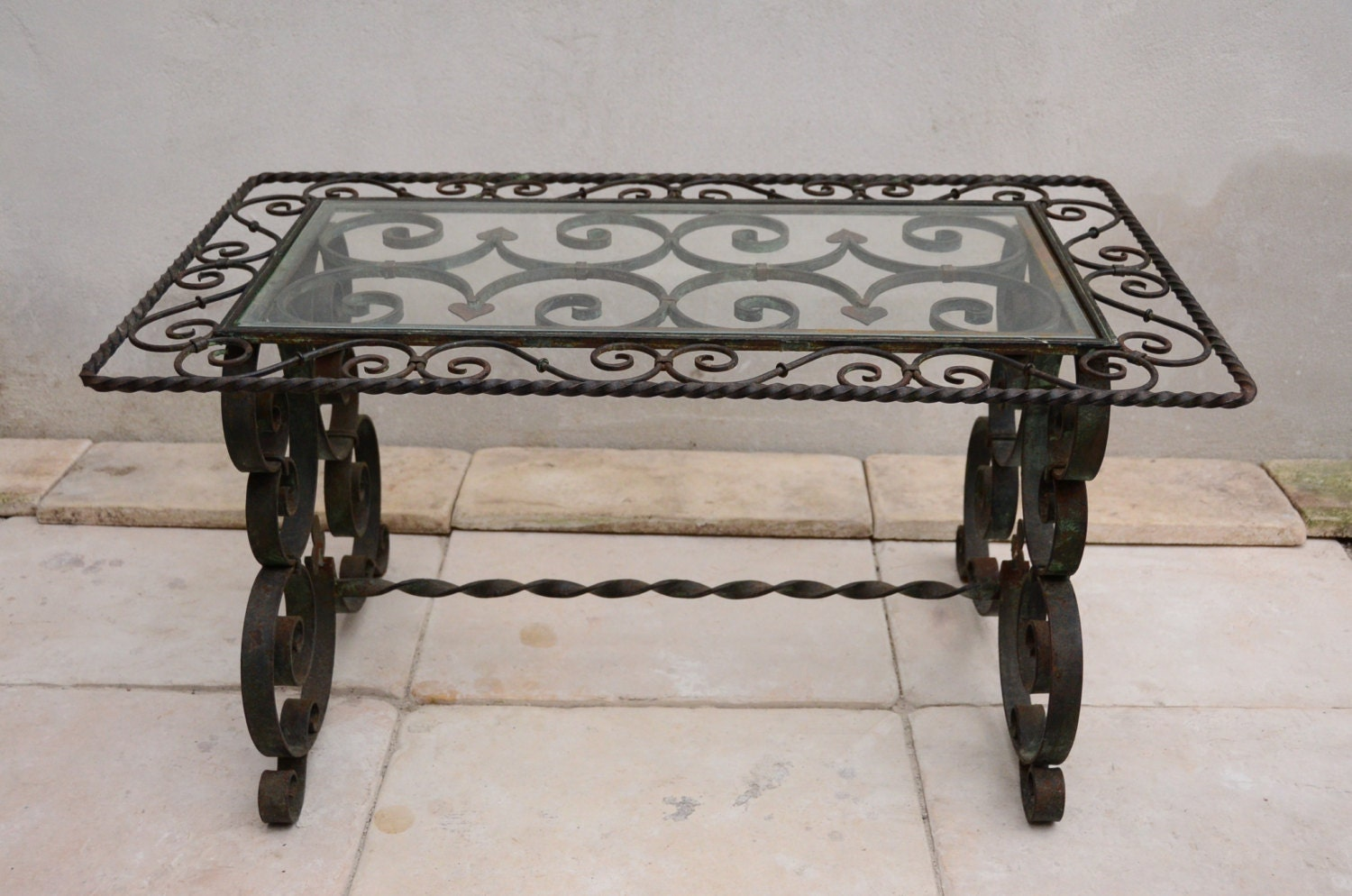 coffee table wrought iron 1950 39 s