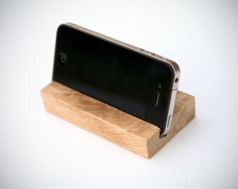 White Oak iPhone Stand Holder|iPhone Stand Wood|Phone Docking Station|iPhone Dock|iPhone 6 Stand|iPhone Desk Stand|Wooden iPhone. Stand