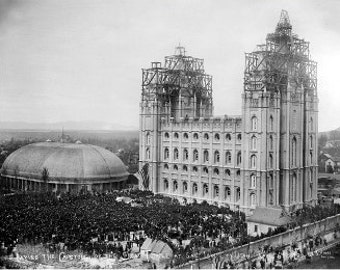 Temple Capstone Ceremony Photo - Archival Print