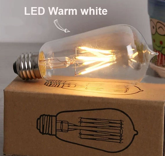 new edison style t58 led light bulb e27 2w 4w lamp vintage decor. Black Bedroom Furniture Sets. Home Design Ideas