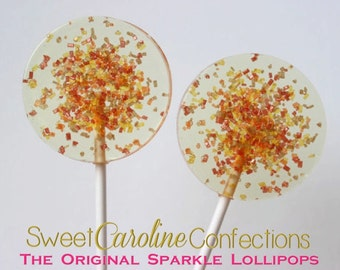 Autumn Wedding Favors, Lollipops, Candy, Wedding Favors, Party Favors, Candy Lollipops, Sweet Caroline Confections--Set of Six
