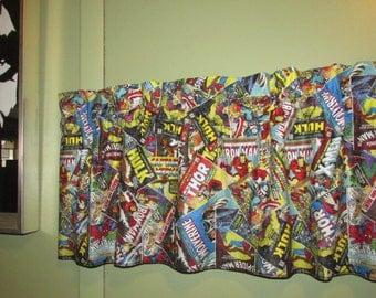Marvel Comic Book Curtain