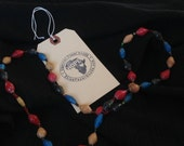 Ekisa Paper Bead Multicolor Necklace from Uganda Africa African Natural Jewelry recycled short ugandan paperbead