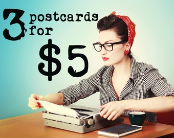 Postcard Bundle: 3 Postcards for 5 dollars