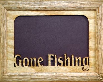 Gone Fishing Picture Frame 5x7