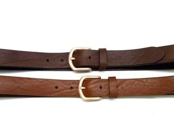 Leather belt women basic