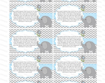 Bring a book insert boy baby shower invitation bring a book instead of a card elephant baby shower invitation insert boy baby shower (49dt)