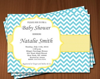 Baby Shower Invitation Boy Baby Shower invitations Printable Baby Shower Invites -FREE Thank You Card - editable pdf Download (653) yellow