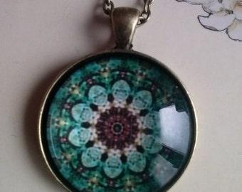 mandala picture pendant necklace