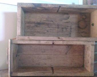 Vintage workshop storage boxes.