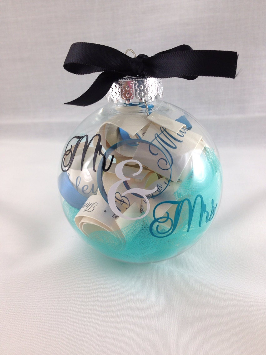 Sale christmas tree ornament engagement gift by bellacuttery for Christmas ornaments sale