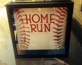 HOME RUN Ticket Stub, 12x12 Shadow Box (1)