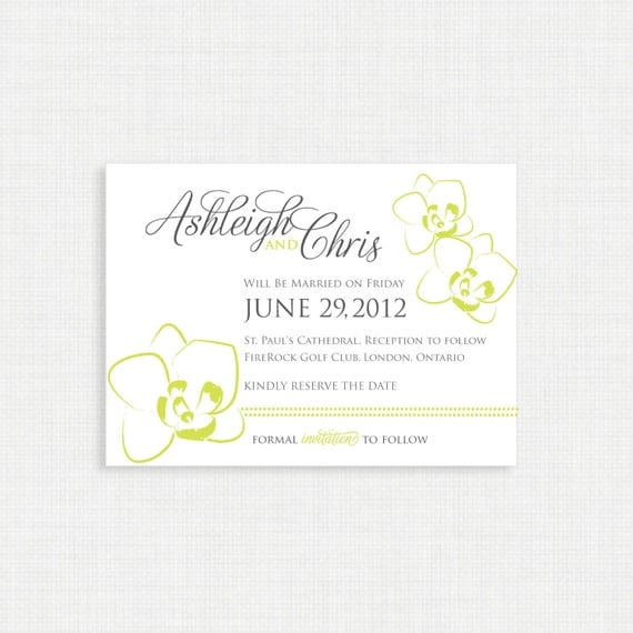 Orchid Save the date invitation template - Orchid save the dates, save the date postcard