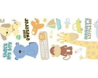 New for Scrapbooking, Art and Craft Project Embellishment Rub-On Transfers Baby Boy No 2