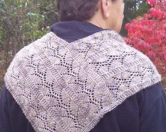 Trellis vine scarf shawlette wrap knitting pattern