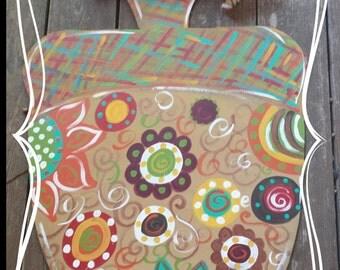 Fall Acorn Wood Door Hanger Colorful & fun..On Sale