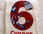 SPIDERMAN BIRTHDAY Shirt. Kids Appliquéd Personalized T-shirt. Marvel, Avengers Spider-Man, Boy's Birthday PARTY