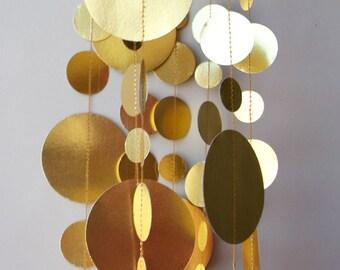 Décorations de mariage en or, guirlande or, décor de douche nuptiale, guirlande en papier, décoration de Noël, guirlande en papier, KMC-1020