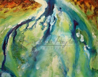 Ocean Flow - Abstract Limited Edition Mixed Media Painting on Canvas