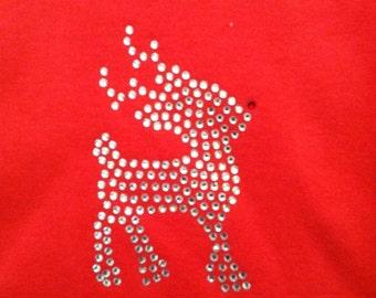 Reindeer. Rhinestone shirt