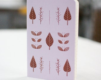 Leaves Notebook Moleskine Ruled Journal Screenprint