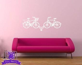 Bike Lock Love Wall Decal Decor