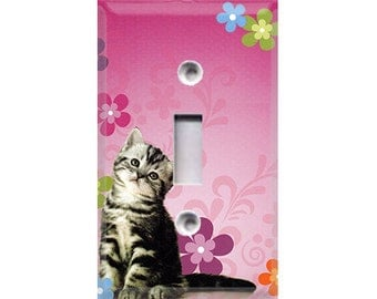Girls Kittens Light Switch Cover