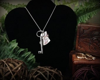 Skeleton Key Necklace - Key to Your Heart