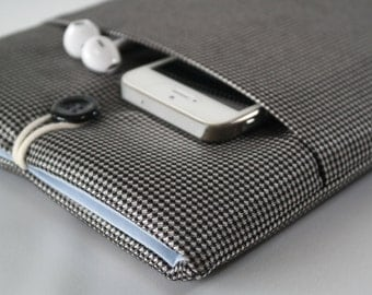 iPad Mini Sleeve, iPad Mini Case, iPad Mini Cover, Kindle, Nook, Nexus pouch With Pocket - - Grey modern sleeve