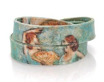 Edgar Degas  'Two Dancers' Handmade Canvas Bracelet, Dance Teacher Gift, Womens Bracelet, Ballerinas, Ballet Jewelry, Gift for Dancer
