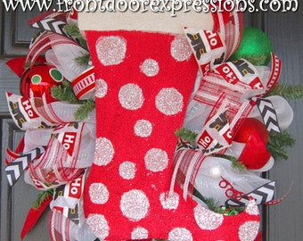 The Stockings were Hung Wreath