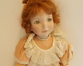 Porcelain Doll, Doll, Collectible Doll, Peaches & Cream Dianna Effner, well worn doll