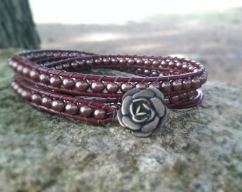 Wrap bracelet- Rose