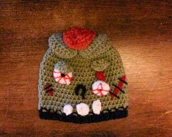 ZOMBIE Beanie, Zombie Attack, Stupid Zombies Hat, Apocalyps, End of the World, Halloween Zombie Hat, Customizable~