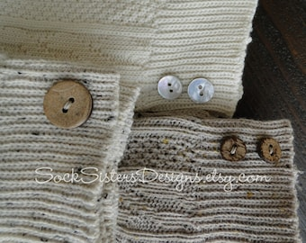 Knee High Boot Socks with Buttons