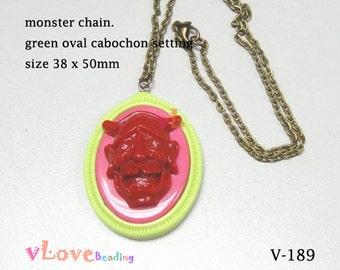 Resin Monster Pendant Chain (V-189)